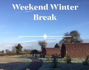 Glamping in Cheshire. Winter Breaks at Bradley Hall Rural Escapes.